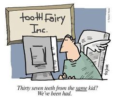 My girls always ask if I know the #tooth-fairy.  But  she has never told me this story.  I will have to ask her next time we chat.