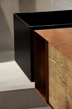Lavabo rettangolare in lamiera Collezione Zero20 by Moab 80 | design Gabriella Ciaschi, Studio Moab