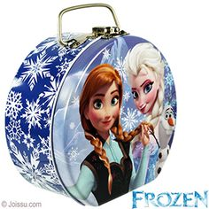 DISNEY'S FROZEN METAL MINI PURSE. These beautiful lunchbox-style purses with metal handles will delight any Disney Elsa and Anna fan. Each polybagged. Perfect for party favors.  Size 5 X 4 X 2.5 inches plus handle.