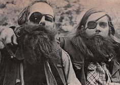 famous outlaw bikers | One-eyed members of the Warlocks Motorcycle Club.