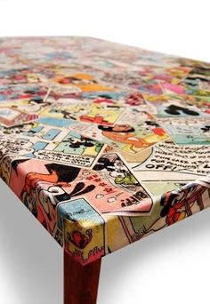 Another idea for Robbie's old comic books(DIY Mod podge project).