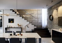 Amazing Interior Design at Abbot Kinney Residence staircase area