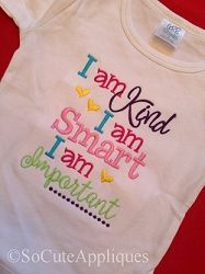 I Am Kind - 5x7 | What's New | Machine Embroidery Designs | SWAKembroidery.com So Cute Appliques