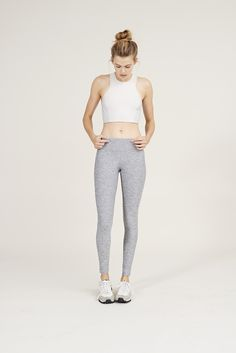 The Color Blocked Athena Crop Top in Oatmeal & Whiteout from Outdoor Voices. Activewear. Click on the link above and shop now.