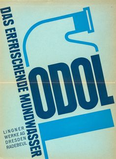 ANONYMOUS - ODOL, Das Erfrischende Mundwasser lithographic poster in colours, c.1930, cond A-, not backed 20 x 16ins