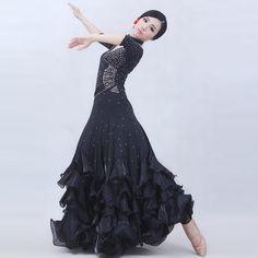 4 colours woman high-end big swing standard Ballroom Dance Costume Dress short sleeves sequins waltz/flamenco costumes Flamenco Costume, Costume Dress, Dance Costumes, Tango Dress, Ballroom Dance Dresses, Short Sleeve Dresses, Short Sleeves, Dance Wear, Sequins