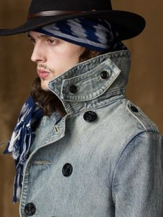 Faded Denim Pea Coat - Denim & Supply  Cloth - RalphLauren.com