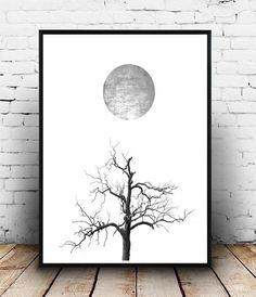 Scandinavian Art Minimalist Poster Tree Print by honeytreeprints