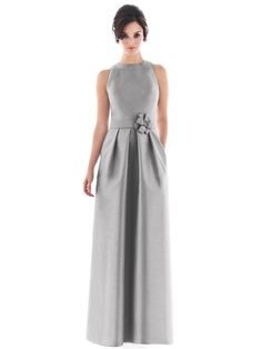 Say hello to style and grace for your wedding day when you choose the gorgeous Alfred Sung D477 bridesmaid dress made from Dupioni silk. This stunning silk fashion has a charming high neckline with great detail and deep cut armholes to show off a spectacular bodice. The colors offered are smashing and show off the pleated skirt in a beautiful way. Let the Alfred Sung bridesmaid dress send the best wishes for your wedding day.