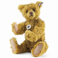 "STEIFF Teddy Bear Replica 1925 EAN 403255 15.7"" Brass MOHAIR Excelsior Packed #Steiff"