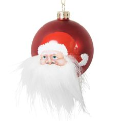 Boule de Noël en verre 8 cm BARBICHETTE