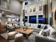 Ascend Model Grand Room - 3328 Sq Ft Model - Epic Homes, Leyden Rock, Arvada Colorado Broomfield Colorado, Arvada Colorado, Colorado Homes, Great Rooms, Building A House, Family Room, New Homes, Living Rooms, High Ceilings