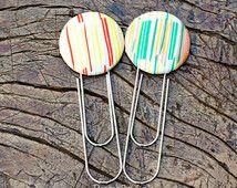 Fabric button bookmark, button bookmark, fabric button, book club favor, book club gift