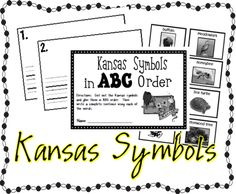 First Grade Kansas Day activities made by Kansas teachers! Kansas Symbols ABC order, KS sentence scramble, map of Kansas, basketball math activity, and KS art