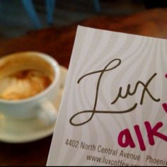 Went to Lux with Autumn today.  Right by her new house. Cool inside.  Made me miss milwaukee!