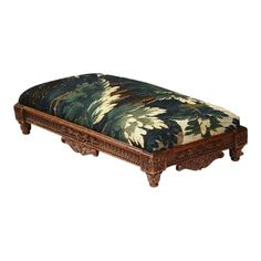 Century French Louis XVI Carved Footstool With Aubusson Tapestry Victorian Furniture, Louis Xvi, 19th Century, Ottoman, Carving, Tapestry, French, Chair, Vintage
