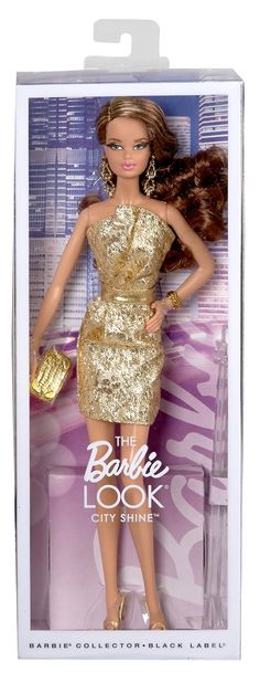 Amazon.com: Barbie The Look: Gold Dress Doll: Toys & Games