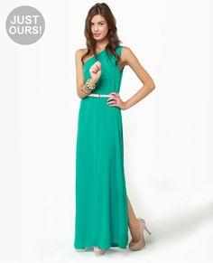 green  Maxi Dress for bridesmaids