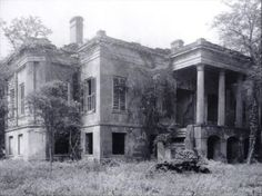 georgiangentility:  The Hermitage.The house remained unoccupied since it was sacked by Sherman's soldiers during the Civil War. It was demolished in the 1930s.
