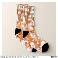 funny ghosts ghost halloween glossy gold socks - Fancy Customizable All-Over-Print Crew Socks By Talented Fashion And Graphic Designers - Gold Socks, Men's Socks, Crew Socks, Halloween Socks, Halloween Ghosts, Funny Ghost, Trendy Fashion, Mens Fashion, Graphic Designers