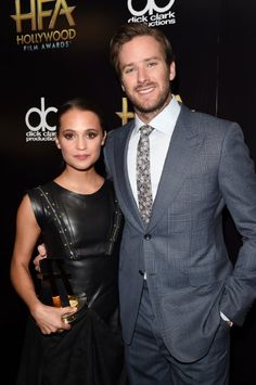 Armie Hammer and Alicia Vikander