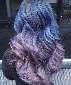 "amirahgarces: ""Dark purple/blue to a light silver/purple """