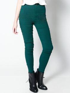 NADIA High-Waisted Riding Pants (Green)