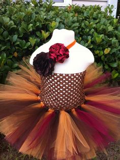 Burgandy Burnt Orange and Chocolate Brown Fall by EllaBooCouture, $30.00