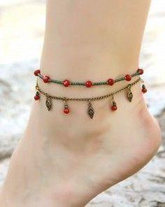 14389008ec Anklet, ankle bracelet made wi #diyankletcute #diyankletankle Ankle Jewelry,  Ankle Bracelets,