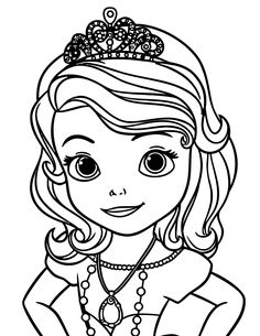 Princess sofia disney coloring pages Coloring Pages For Girls, Cartoon Coloring Pages, Coloring Pages To Print, Free Printable Coloring Pages, Coloring Book Pages, Coloring Sheets, Disney Princess Coloring Pages, Disney Princess Colors, Disney Princess Drawings