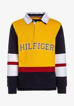de082d7d Tommy Hilfiger CUT AND SEW RUGBY - Sweatshirt - yellow - Zalando.co.uk