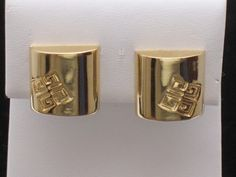 Givenchy Couture Logo Earrings  http://stores.ebay.com/atouchofrosevintagejewels