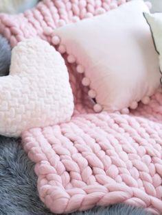 giant merino wool chunky blanket throw