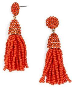 Women's Baublebar Tratar Drop Earrings Tassel Drop Earrings, Beaded Earrings, Mini Pinatas, Retro Chic, Season Colors, Shades Of Red, Color Trends, Pantone, Light In The Dark
