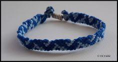 Bracelet brésilien bleu avec fermoir : http://filadelie.alittlemarket.com