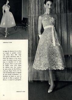 Jardin des Modes Editorial Cote Cour Jardin, April 1955 Shot #4