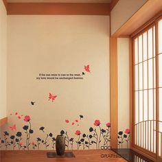 Butterfly flower wall
