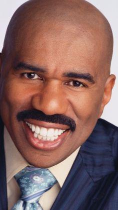 White teeth black face Steve