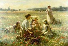 The Poppy Field William Kay Blacklock (1872 – 1922, English)