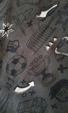 Kinderstoff - Jerseystoff Fußball von Naehspass auf Etsy