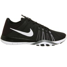 Nike Nike Free TR 6 ($130) ❤ liked on Polyvore featuring shoes, athletic shoes, black, nike footwear, lightweight training shoes, black athletic shoes, print shoes and ankle strap shoes