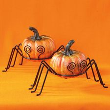 Fun Spider Metal Gourd Holders - Great for Fall Season!  Current Catalog  $6.99