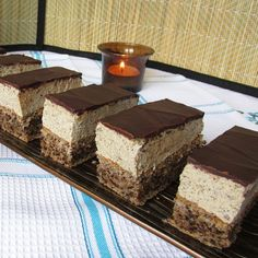 Poppy Cake, Hungarian Recipes, Tiramisu, Deserts, Dessert Recipes, Food And Drink, Pudding, Ale, Sweets