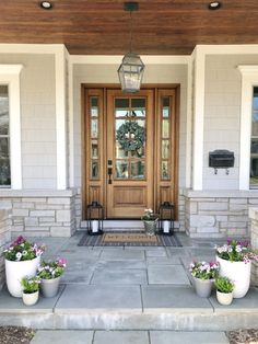 Complement your home's aesthetic, from traditional to modern farmhouse with farmhouse entry doors from Pella. Brown Front Doors, Wood Front Doors, Exterior Front Doors, Glass Front Door, Exterior House Colors, Front Door Decor, Front Porch, Front Door Entry, Front Door Molding