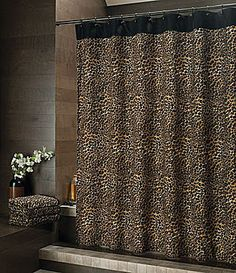 Bay Linens Safari Leopard Shower Curtain Dillards DecorCheetah Print