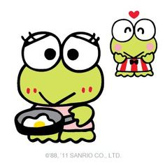 Keroppi (thats how my bf looks when i cook breakfast too)