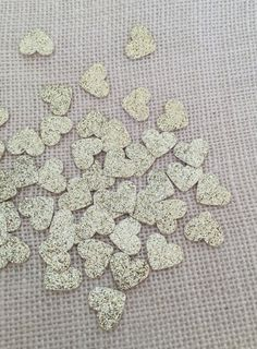 Gold Glitter Heart Confetti Wedding Confetti by ConfettiBistro
