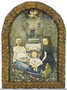 Jerzy Duda-Gracz, Autoportret z rodziną, 1978 © Die Familie sold by Galerie Fischer, Luzern, on Thursday, June 11, 2009