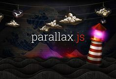 Parallax.js is a small, simple JavaScript library that reacts to the orientation of a smart device, offsetting layers depending on their depth within a scene. Where no gyroscope or motion detection hardware is available, the position of the cursor is used instead.