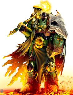 Vulkan, Primarch of the Salamanders Legion, and one of the genetic masterpieces created by the Emperor Warhammer 40k Salamanders, Salamanders Space Marines, Warhammer 40k Rpg, Warhammer Models, Warhammer Fantasy, The Horus Heresy, Fantasy Characters, Fantasy Art, Sci Fi